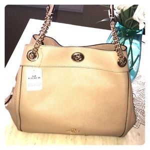 Coach leather tan purse NWT!